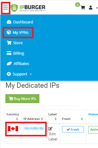 Downloading your IP profile