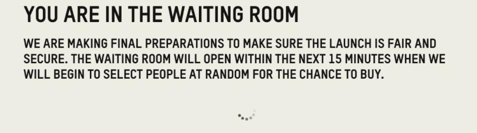 sneaker waiting room